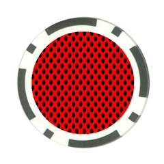 Polka Dot Black Red Hole Backgrounds Poker Chip Card Guard by Mariart