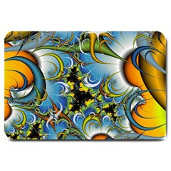 High Detailed Fractal Image Background With Abstract Streak Shape Large Doormat  by Simbadda
