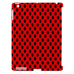 Polka Dot Black Red Hole Backgrounds Apple Ipad 3/4 Hardshell Case (compatible With Smart Cover) by Mariart