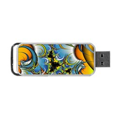 High Detailed Fractal Image Background With Abstract Streak Shape Portable Usb Flash (two Sides) by Simbadda