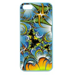 High Detailed Fractal Image Background With Abstract Streak Shape Apple Seamless Iphone 5 Case (color) by Simbadda