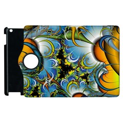 High Detailed Fractal Image Background With Abstract Streak Shape Apple Ipad 2 Flip 360 Case by Simbadda