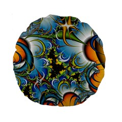 High Detailed Fractal Image Background With Abstract Streak Shape Standard 15  Premium Round Cushions by Simbadda
