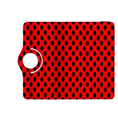 Polka Dot Black Red Hole Backgrounds Kindle Fire Hdx 8 9  Flip 360 Case by Mariart