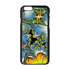 High Detailed Fractal Image Background With Abstract Streak Shape Apple Iphone 6/6s Black Enamel Case by Simbadda