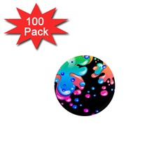 Neon Paint Splatter Background Club 1  Mini Magnets (100 Pack)  by Mariart