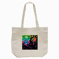 Neon Paint Splatter Background Club Tote Bag (cream) by Mariart