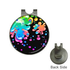 Neon Paint Splatter Background Club Hat Clips With Golf Markers by Mariart