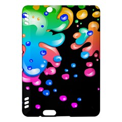 Neon Paint Splatter Background Club Kindle Fire Hdx Hardshell Case by Mariart