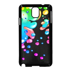 Neon Paint Splatter Background Club Samsung Galaxy Note 3 Neo Hardshell Case (black) by Mariart