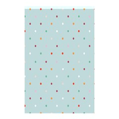 Polka Dot Flooring Blue Orange Blur Spot Shower Curtain 48  X 72  (small)  by Mariart