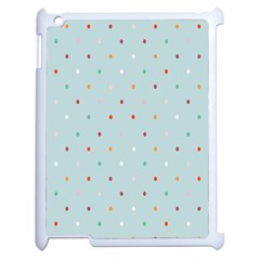 Polka Dot Flooring Blue Orange Blur Spot Apple Ipad 2 Case (white) by Mariart