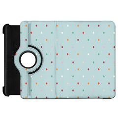 Polka Dot Flooring Blue Orange Blur Spot Kindle Fire Hd 7  by Mariart