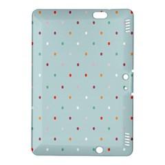 Polka Dot Flooring Blue Orange Blur Spot Kindle Fire Hdx 8 9  Hardshell Case by Mariart