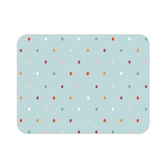 Polka Dot Flooring Blue Orange Blur Spot Double Sided Flano Blanket (mini)  by Mariart