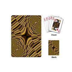Fractal Golden River Playing Cards (mini)  by Simbadda