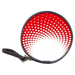 Polka Dot Circle Hole Red White Classic 20 Cd Wallets by Mariart