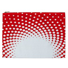 Polka Dot Circle Hole Red White Cosmetic Bag (xxl)  by Mariart