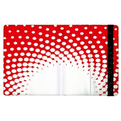 Polka Dot Circle Hole Red White Apple Ipad 3/4 Flip Case by Mariart