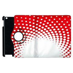 Polka Dot Circle Hole Red White Apple Ipad 3/4 Flip 360 Case by Mariart