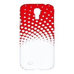 Polka Dot Circle Hole Red White Samsung Galaxy S4 I9500/i9505 Hardshell Case by Mariart