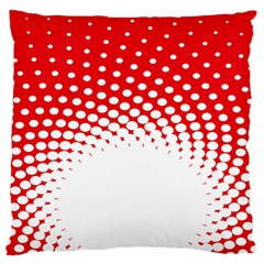 Polka Dot Circle Hole Red White Standard Flano Cushion Case (one Side) by Mariart