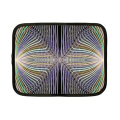 Color Fractal Symmetric Wave Lines Netbook Case (small)  by Simbadda