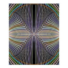 Color Fractal Symmetric Wave Lines Shower Curtain 60  X 72  (medium)  by Simbadda