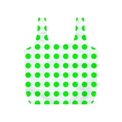 Polka Dot Green Full Print Recycle Bags (s)  by Mariart