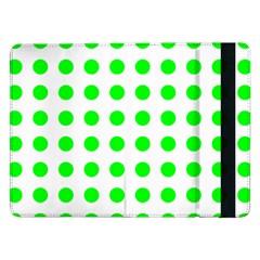 Polka Dot Green Samsung Galaxy Tab Pro 12 2  Flip Case by Mariart