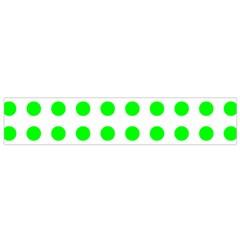 Polka Dot Green Flano Scarf (small) by Mariart