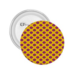 Polka Dot Purple Yellow Orange 2 25  Buttons by Mariart