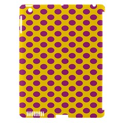 Polka Dot Purple Yellow Orange Apple Ipad 3/4 Hardshell Case (compatible With Smart Cover) by Mariart