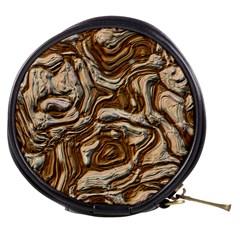 Fractal Background Mud Flow Mini Makeup Bags by Simbadda