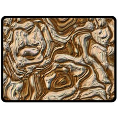 Fractal Background Mud Flow Double Sided Fleece Blanket (large)  by Simbadda