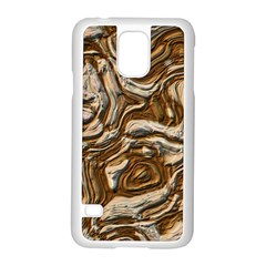 Fractal Background Mud Flow Samsung Galaxy S5 Case (white) by Simbadda