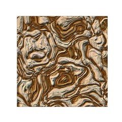 Fractal Background Mud Flow Small Satin Scarf (square) by Simbadda