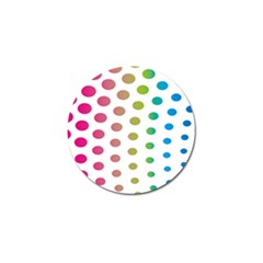 Polka Dot Pink Green Blue Golf Ball Marker by Mariart