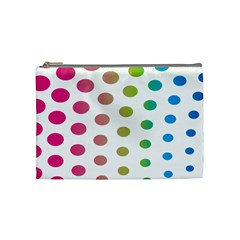 Polka Dot Pink Green Blue Cosmetic Bag (medium)  by Mariart