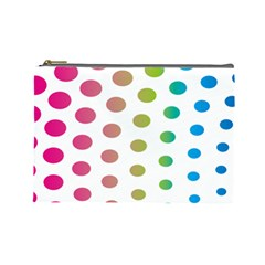 Polka Dot Pink Green Blue Cosmetic Bag (large)  by Mariart
