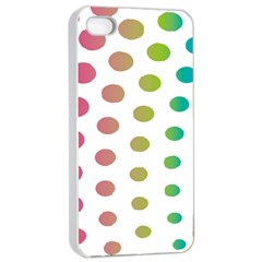 Polka Dot Pink Green Blue Apple Iphone 4/4s Seamless Case (white) by Mariart