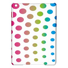 Polka Dot Pink Green Blue Ipad Air Hardshell Cases by Mariart