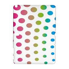 Polka Dot Pink Green Blue Galaxy Note 1 by Mariart