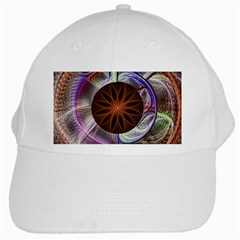 Background Image With Hidden Fractal Flower White Cap by Simbadda