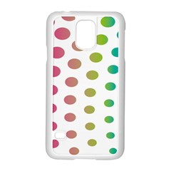 Polka Dot Pink Green Blue Samsung Galaxy S5 Case (white) by Mariart