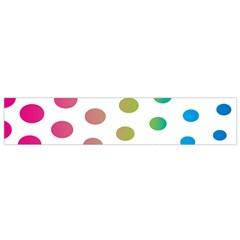 Polka Dot Pink Green Blue Flano Scarf (small) by Mariart