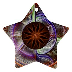 Background Image With Hidden Fractal Flower Star Ornament (two Sides) by Simbadda