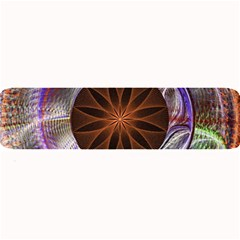 Background Image With Hidden Fractal Flower Large Bar Mats by Simbadda