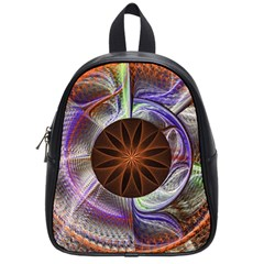 Background Image With Hidden Fractal Flower School Bags (small)  by Simbadda