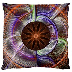Background Image With Hidden Fractal Flower Large Cushion Case (two Sides) by Simbadda